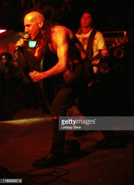 Vocalist Maynard James Keenan and bassist Paul D'Amour perform in Tool at Al's Bar on November 25 1991 in downtown Los Angeles