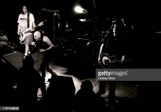 Vocalist Maynard James Keenan bassist Paul D'Amour guitarist Adam Jones and drummer Danny Carey perform in Tool at SOMA on Union Street on February...