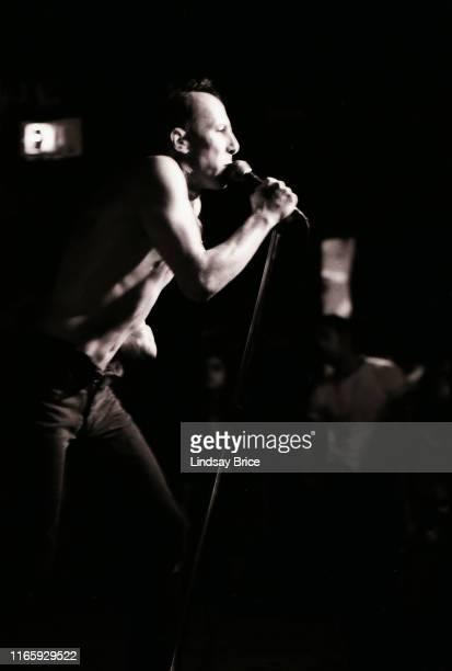 Vocalist Maynard James Keenan performs in Tool at Al's Bar on November 25 1991 in downtown Los Angeles