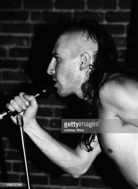 Vocalist Maynard James Keenan performs in Tool at the band's Zoo Entertainment signing celebration at Club Lingerie Hollywood on December 12 1991 in...