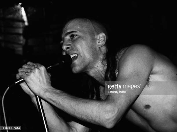 Vocalist Maynard James Keenan performs in Tool with bassist Paul D'Amour drummer Danny Carey and guitarist Adam Jones at English Acid on January 1...
