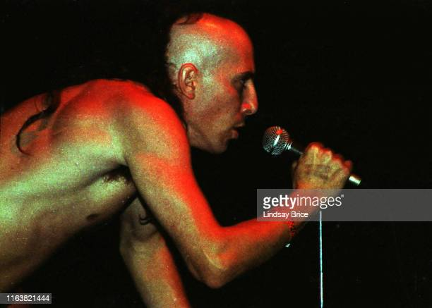 Vocalist Maynard James Keenan performs with guitarist Adam Jones drummer Danny Carey and bassist Paul D'Amour in Tool at Club With No Name in...