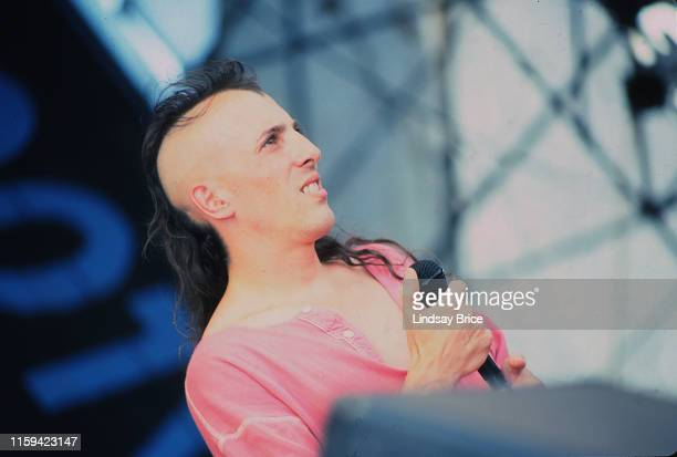 Vocalist Maynard James Keenan with Tool on the Lollapalooza tour on August 6 1993 at the Santa Fe Dam in Irwindale California