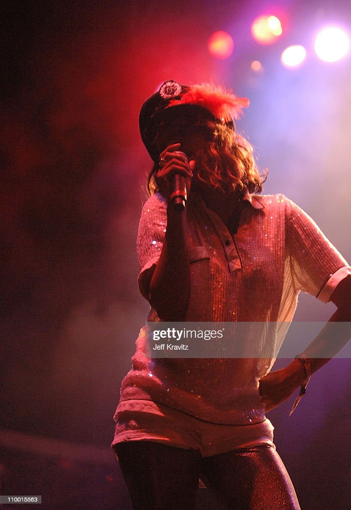 Vocalist M.I.A. performs during the Vegoose Music Festival 2007 at Sam Boyd Stadium on October 27, 2007 in Las Vegas, Nevada.