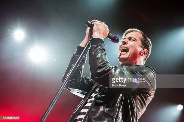 Vocalist Michael Fitzpatrick of Fitz and the Tantrums performs in concert at ACL Live on December 12 2013 in Austin Texas