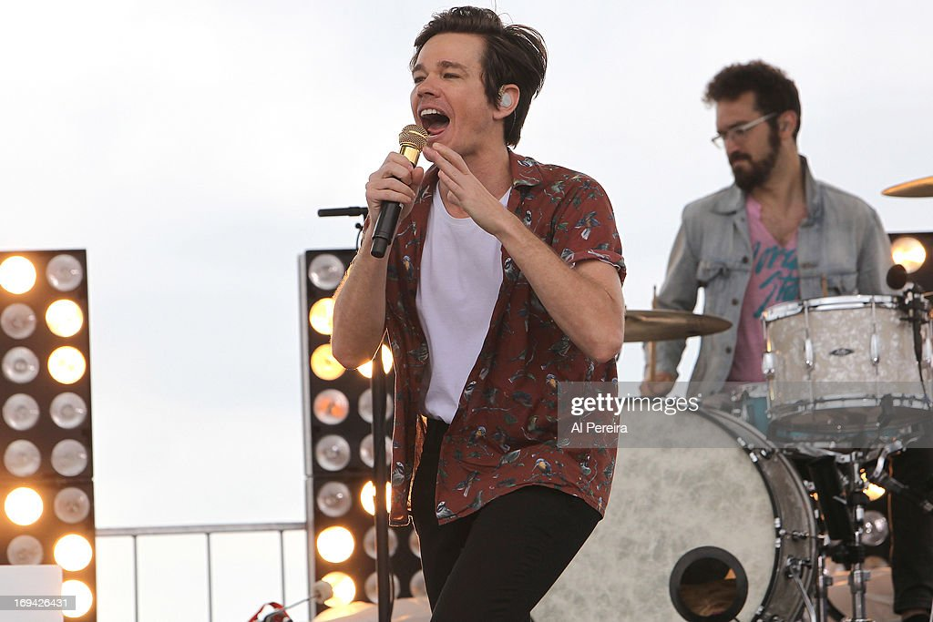 Vocalist Nate Ruess performs when The music group fun. performs on NBC's 'Today'on the beach at the Seaside Heights Boardwalk on May 24, 2013 in Seaside Heights, New Jersey.