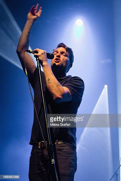 Vocalist Nathan Willett of Cold War Kids performing at Grand Regency Ballroom on May 23 2013 in San Francisco California