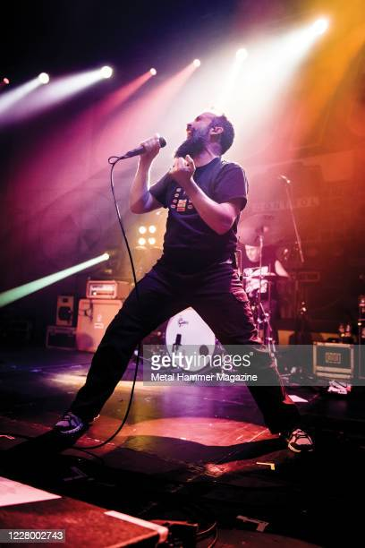 Vocalist Neil Fallon of American hard rock group Clutch performing live on stage at The Roundhouse in London on December 18 2019