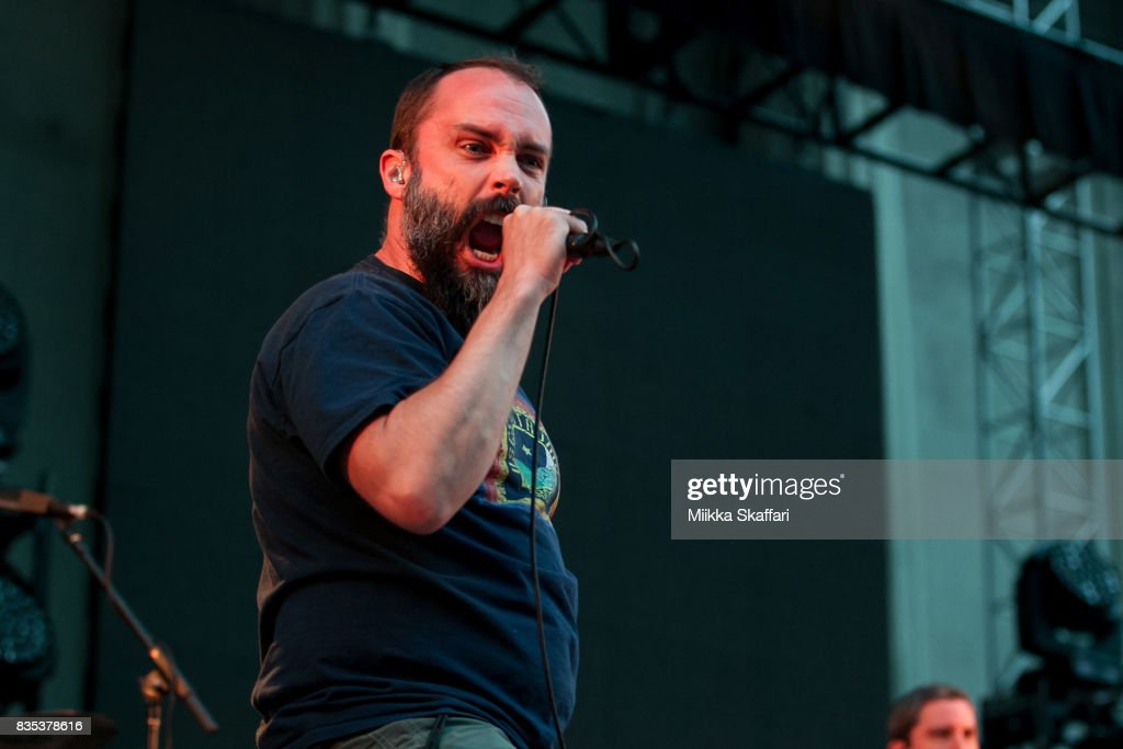 Vocalist Neil Fallon of Clutch performs at The Greek Theater on August 18, 2017 in Berkeley, California.
