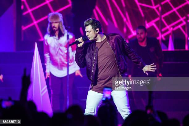 Vocalist Nick Carter of the Backstreet Boys performs on stage during the 2017 iHeartRadio Canada Jingle Ball at the Air Canada Centre on December 9...