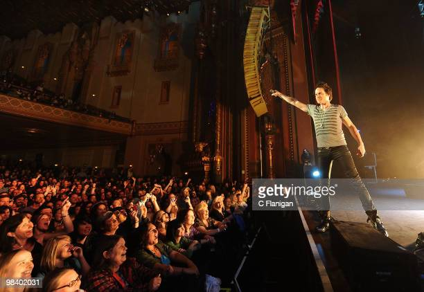 Vocalist Patrick Monahan of Train performs at The Fox Theatre on April 10 2010 in Oakland California