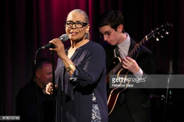 Vocalist Patti Austin performs at Ella at 100 Celebrating the Artistry of Ella Fitzgerald at The GRAMMY Museum on May 3 2017 in Los Angeles California