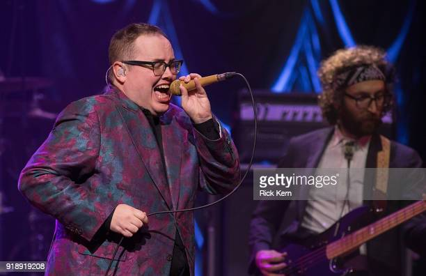 Vocalist Paul Janeway of St Paul and The Broken Bones performs in concert at ACL Live on February 15 2018 in Austin Texas