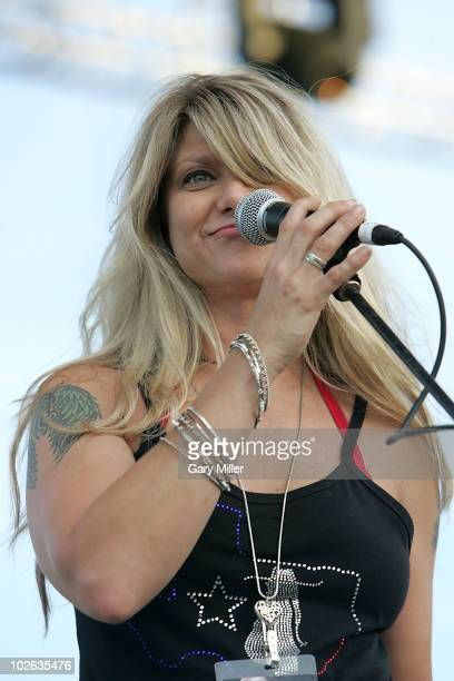 Vocalist Paula Neslon performs to a sold out crowd during her father Willie Nelson's 4th of July Picnic at The Backyard on July 4 2010 in Austin Texas