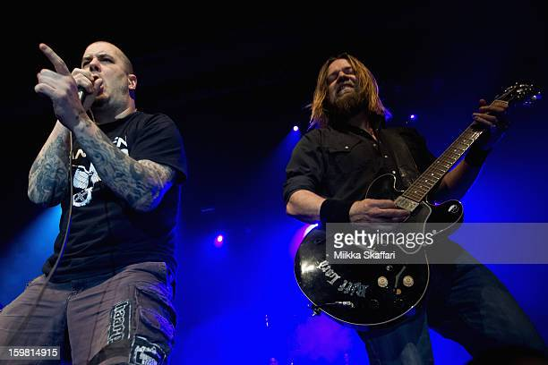 Vocalist Phil Anselmo and guitarist Pepper Keenan of Down at Regency Ballroom on January 20 2013 in San Francisco California