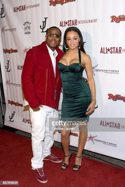 Vocalist Pleasure P and model / actress Chanta Patton arrive at Detail, Ashanti and Keyisha Cole's Birthday Celebration at Area on October 13, 2008...