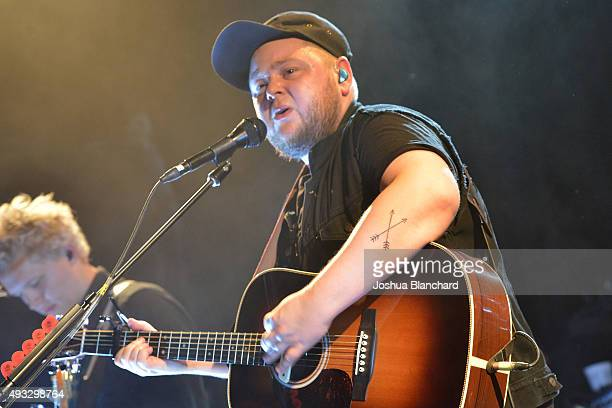 Vocalist Ragnar Porhallsson performs at the OF MONSTERS AND MENÊbenefit concert for MusiCares at the El Rey Theater on Sunday, October 18 in Los...