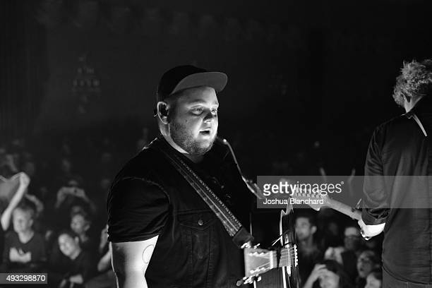 Vocalist Ragnar Porhallsson performs at the Of Monsters and Men benefit concert for MusiCares at the El Rey Theater on Sunday, October 18 in Los...
