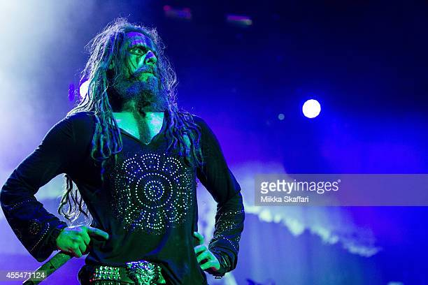 Vocalist Rob Zombie performs at Aftershock Festival at Discovery Park on September 14 2014 in Sacramento California