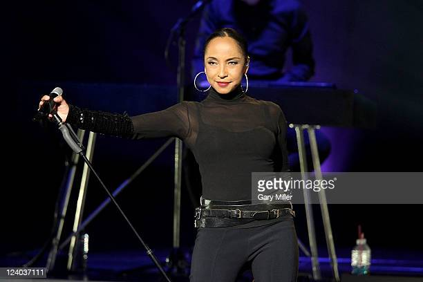 Vocalist Sade performs in concert at The Frank Erwin Center on September 7 2011 in Austin Texas