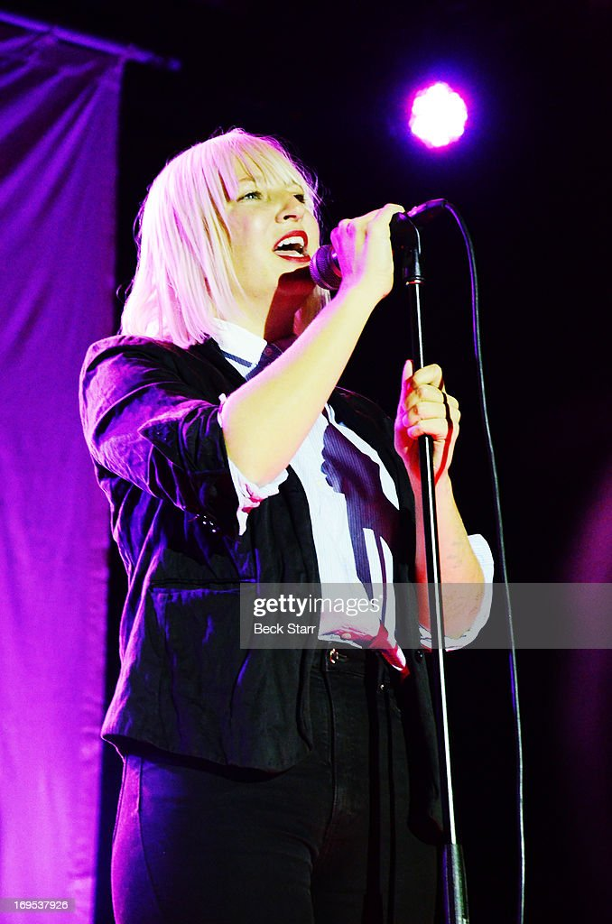 Vocalist Sia performs at the L.A. Gay & Lesbian Center's 2013 'An Evening With Women' gala at The Beverly Hilton Hotel on May 18, 2013 in Beverly Hills, California.