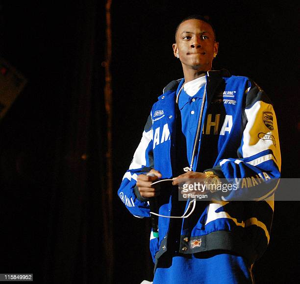 Vocalist Souljah Boy performs live at the Oracle Arena on December 29, 2007 in Oakland, California.