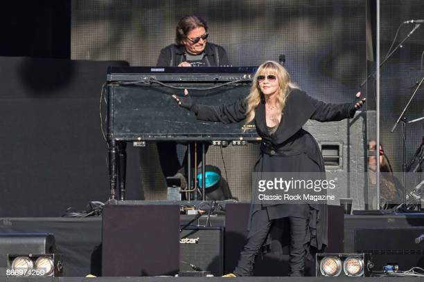 Vocalist Stevie Nicks and keyboardist Ricky Peterson performing live on stage at Hyde Park in London England on July 9 2017