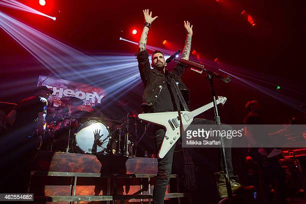 Vocalist Tyler Connolly of Theory of Deadman performs at The Masonic Auditorium on January 30, 2015 in San Francisco, California.