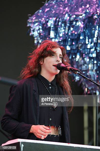 Vocalist Victoria Legrand and her band Beach House open when The National perform a Benefit Concert for Celebrate Brooklyn during the 32nd season of...