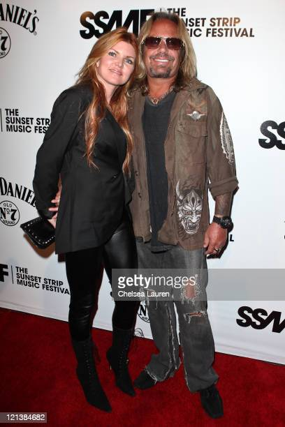 Vocalist Vince Neil of Motley Crue arrives at the 4th Annual Sunset Music Festival Motley Crue Tribute at House of Blues Sunset Strip on August 18...