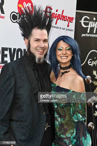 Vocalist Wayne Static Of Staticx And Adult Film Star Tera Wray Static Arrive At The 3rd