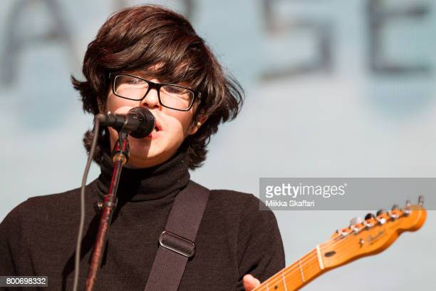 Vocalist Will Toledo of Car Seat Headrest performs at ID10T festival at Shoreline Amphitheatre on June 24 2017 in Mountain View California