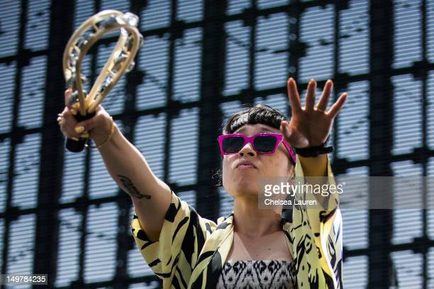 Vocalist Yukimi Nagano of Little Dragon performs at HARD Summer music festival at Los Angeles Historical Park on August 3 2012 in Los Angeles...