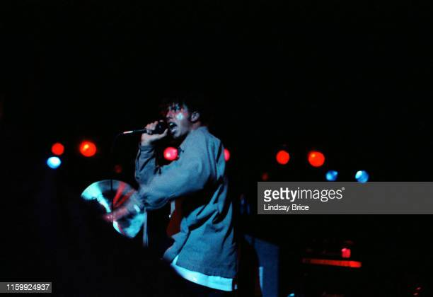 Vocalist Zack de la Rocha performs with bassist Tim Commerford drummer Brad Wilk and guitarist Tom Morello in Rage Against the Machine at the...
