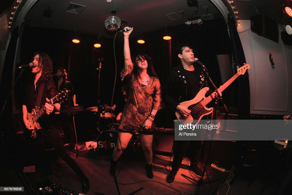 Vocalist ZouZou Mansour and Soraia perform at Berlin on March 24, 2017 in New York City.