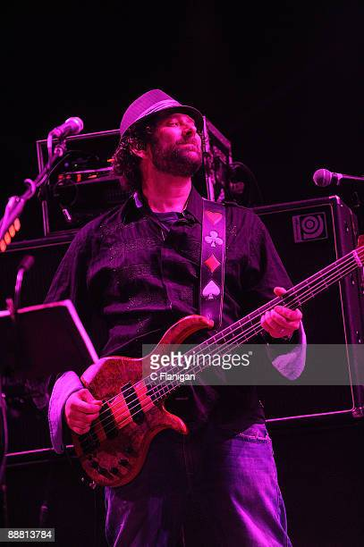 Vocalist/Bassist Marc Brownstein of The Disco Biscuits performs during Day 1 of the 2009 Rothbury Music Festival on July 2 2009 in Rothbury Michigan