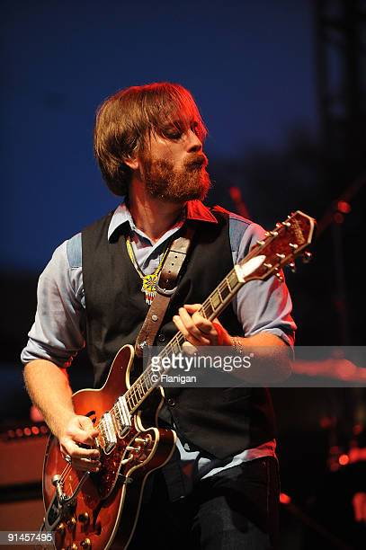 Vocalist/Guitarist Dan Auerbach performs during Day 3 of the 2009 Austin City Limits Music Festival at Zilker Park on October 4 2009 in Austin Texas