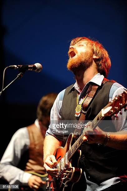 Vocalist/Guitarist Dan Auerbach performs during Day 3 of the 2009 Austin City Limits Music Festival at Zilker Park on October 4, 2009 in Austin,...