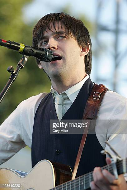 Vocalist/musician Connor Oberst performs with Monsters Of Folk during the second day of the Austin City Limits music Festival at Zilker Park on...