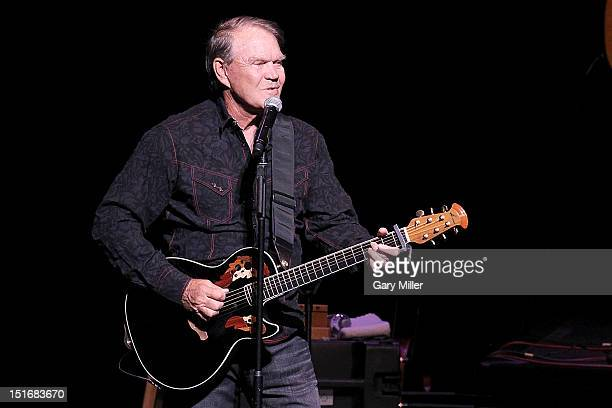 Vocalist/musician Glen Campbell performs in concert at the Long Center on September 9 2012 in Austin Texas