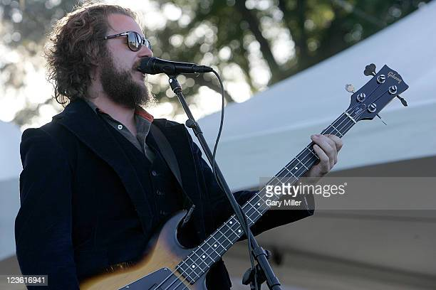 Vocalist/musician Jim James performs with Monsters Of Folk during the second day of the Austin City Limits music Festival at Zilker Park on October 9...