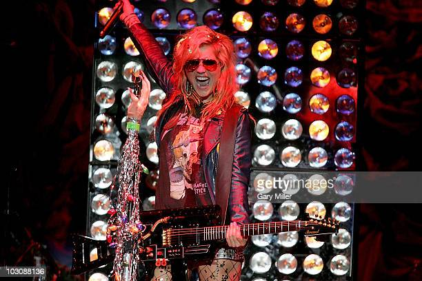 Vocalist/musician Ke$ha performs in concert at the ATT Center on July 25 2010 in San Antonio Texas