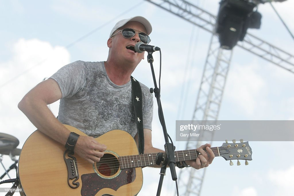 Vocalist/musician Kevin Fowler performs to a sold out crowd during Willie Nelson's 4th of July Picnic at The Backyard on July 4, 2010 in Austin, Texas.
