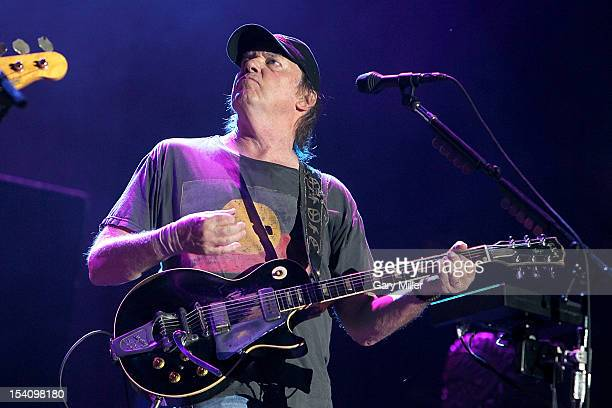 Vocalist/musician Neil Young performs in concert with Crazy Horse during the Austin City Limits Music Festival at Zilker Park on October 13, 2012 in...