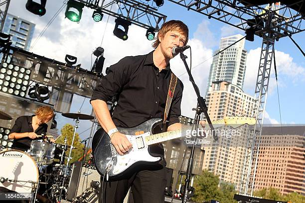 Vocalist/musician Paul Banks performs in concert during Fun Fun Fun Fest at Auditorium Shores on November 3 2012 in Austin Texas