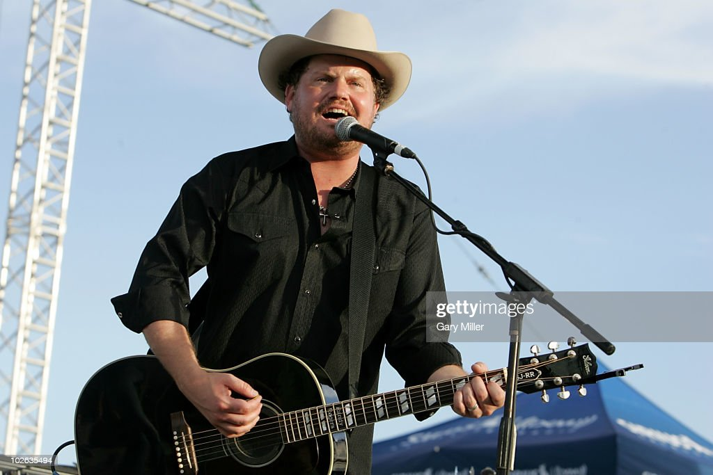 Vocalist/musician Randy Rogers performs to a sold out crowd during Willie Nelson's 4th of July Picnic at The Backyard on July 4, 2010 in Austin, Texas.