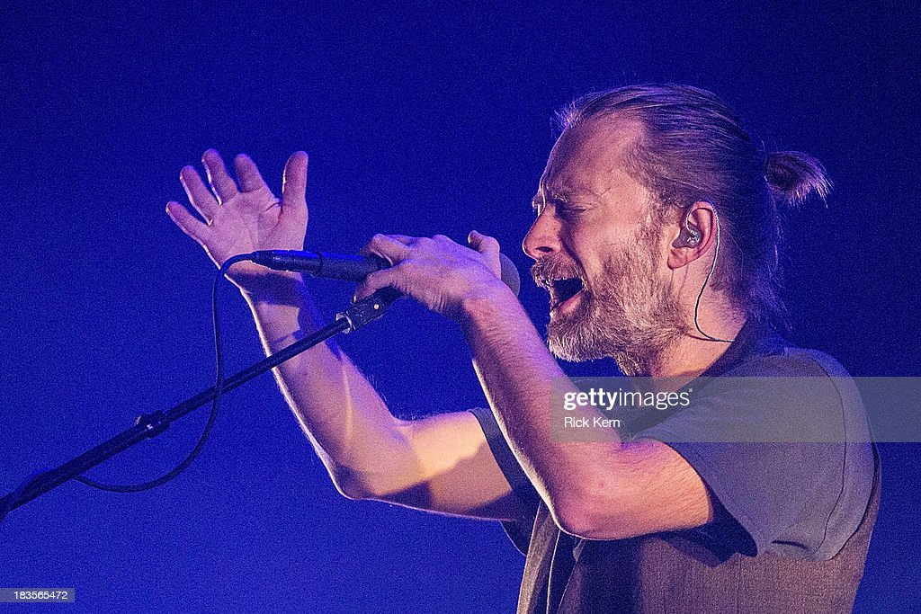 Vocalist/musician Thom Yorke of Atoms For Peace performs on stage during weekend one, day three of the Austin City Limits Music Festival at Zilker Park on October 6, 2013 in Austin, Texas.