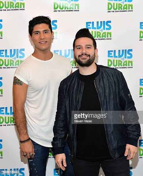 Vocalists and songwriters Dan Smyers and Shay Mooney of country music duo Dan Shay visit The Elvis Duran Z100 Morning Show at Z100 Studio on June 7...