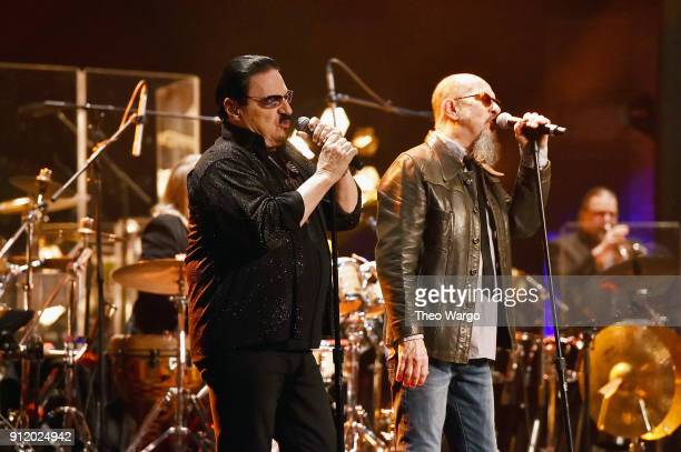 Vocalists Bobby Kimball and Chris Thompson perform onstage during the ManDoki Soulmates 'Wings Of Freedom' concert at The Beacon Theatre on January...