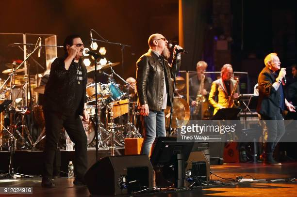 Vocalists Bobby Kimball Chris Thompson and Nick Van Eede perform onstage during the ManDoki Soulmates 'Wings Of Freedom' concert at The Beacon...